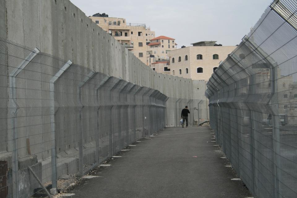Entrada al campo de refugiados de Shuafat